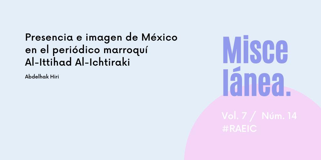 Presencia e imagen de México en el periódico marroquí Al-Ittihad Al-Ichtiraki