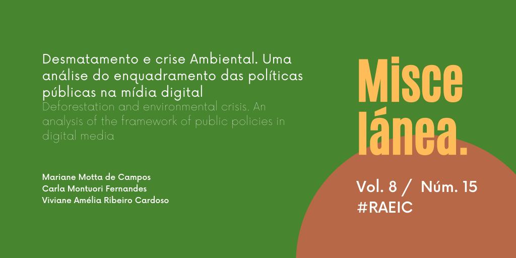 Desmatamento e crise ambiental. Uma análise do enquadramento das políticas públicas na mídia digital